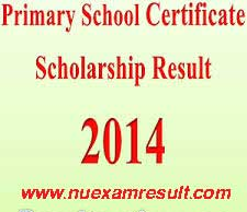 Primary School Certificate (PSC) Scholarship Result 2014 DPE