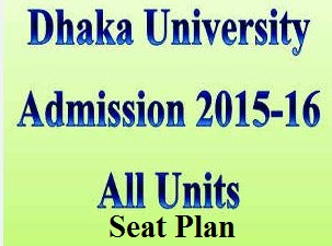 Dhaka University Admission Seat Plan For All Unit 2015-16