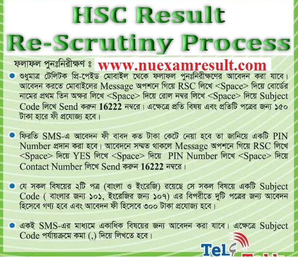 HSC Result Re-scrutiny Process & Result 2015