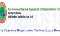 12th NTRCA Teachers Registration Written Exam Result
