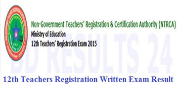 12th NTRCA Teachers Registration Written Exam Result
