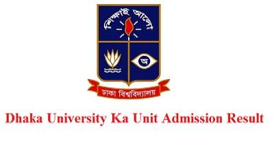 Dhaka University Ka Unit Admission Result Download