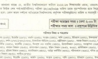 Masters Final Exam Routine 2013 Under National University