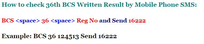 36th BCS Written Exam Result Download