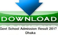Dhaka Govt School Admission Result 2017