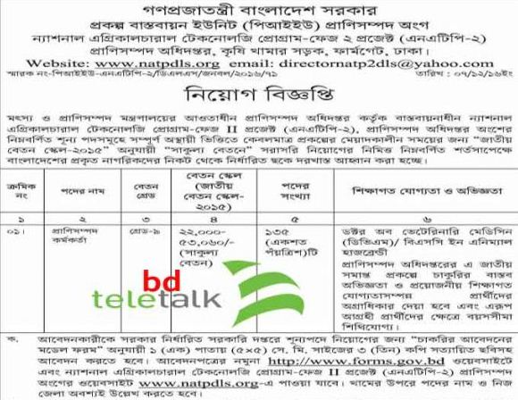 Livestock Extension Officer Job Circular 2016 www.natpdls.org