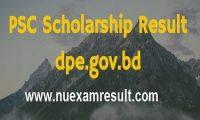 PSC Scholarship Result 2016