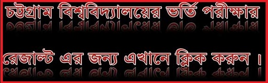 Chittagong University Admission Test Result For All Unit