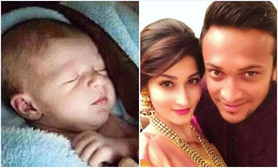Shakib Al Hasan Daughter (Baby) Real New Picture