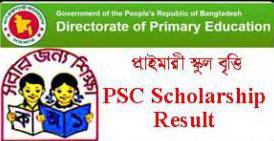 PSC Primary Scholarship Result 2016 | dperesult.gov.bd