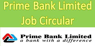 Prime Bank Limited Job Circular 2016