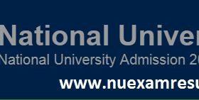 NU Masters Admission Circular 2017